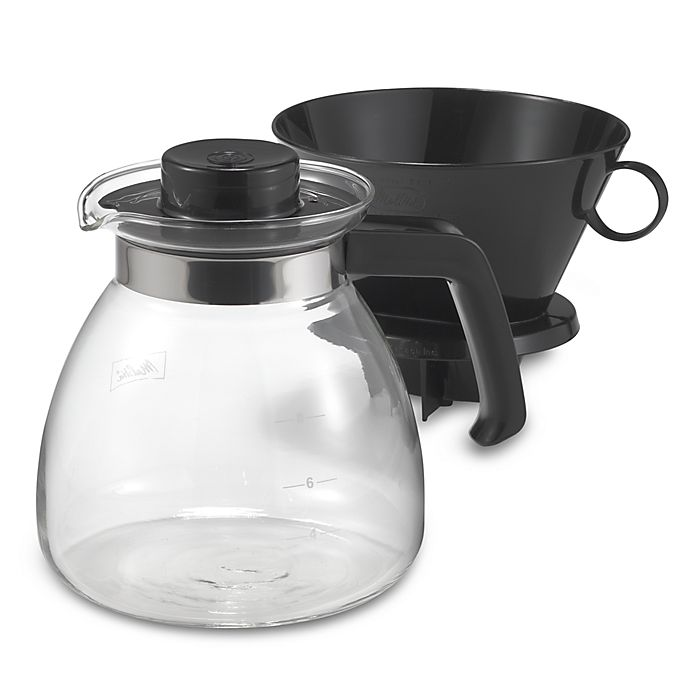 Alternate image 1 for Melitta® Pour Over 10-Cup Coffee Maker with Glass Carafe