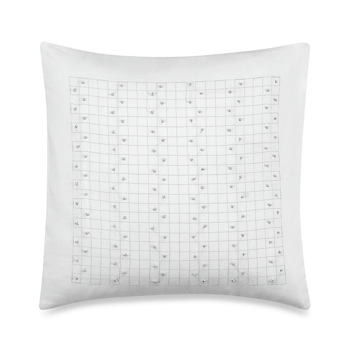 Alternate image 1 for Barbara Barry® French Knots 14-Inch Square Throw Pillow in Silver Birch