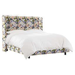 Skyline Furniture Flor King Panel Bed in Pink