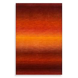 Trans-Ocean Stripes Sunrise 9-Foot x 12-Foot Rug