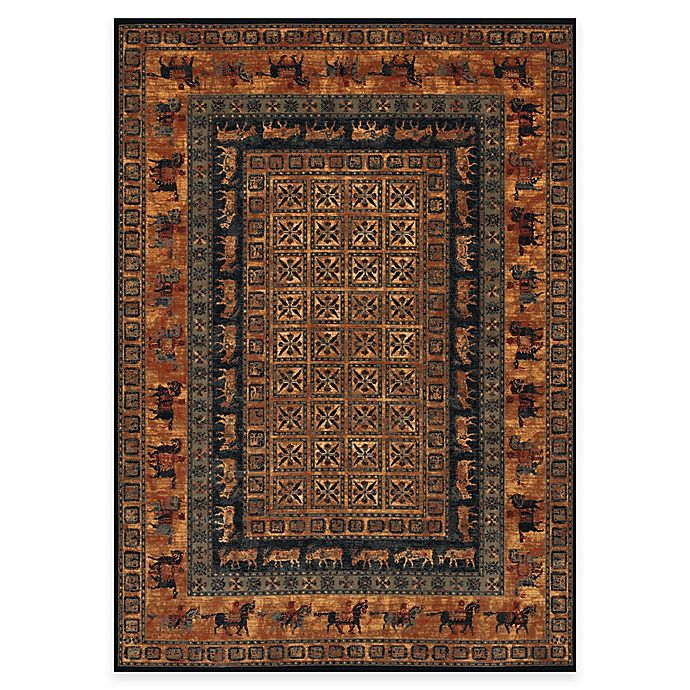 Alternate image 1 for Couristan® Old World Classics Pazyrk 6-Foot 6-Inch x 9-Foot 10-Inch Wool Rug in Burnished Rust