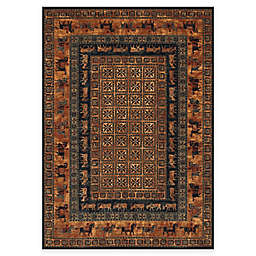 Couristan® Old World Classics Pazyrk Wool Rug in Burnished Rust