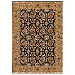 Couristan® All Over Vase Black Rug
