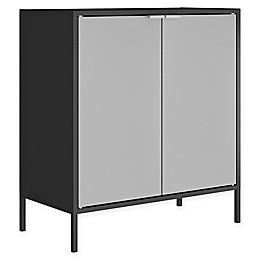Manhattan Comfort Smart Cabinet in Black/Grey