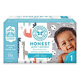 Honest 80-Count Size 1 Diapers in Balloons/Giraffe Pattern