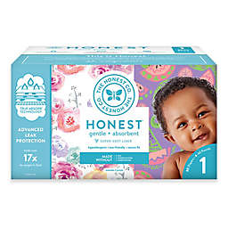 Honest 80-Count Size 1 Diapers in Rose Blossom Pattern