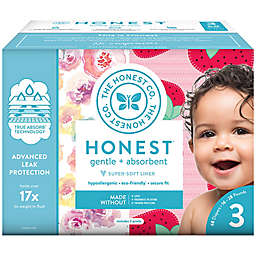 Honest 68-Pack Size 3 Diapers in Rose Blossom & Strawberries Patterns