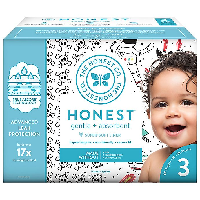 Alternate image 1 for The Honest Company® Skulls and Space Size 3 68-Count Disposable Diapers