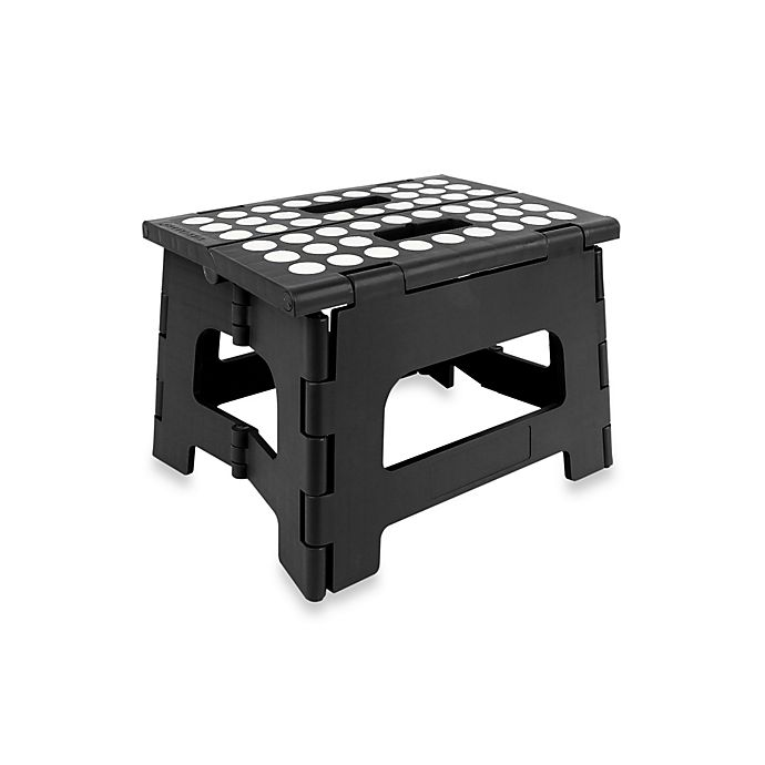 Alternate image 1 for Kikkerland® Easy Folding Step Stool in Black