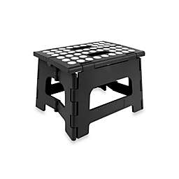 Kikkerland® Easy Folding Step Stool in Black