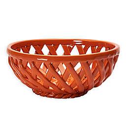 Modern Farmhouse Home Harvest Bread Basket in Orange