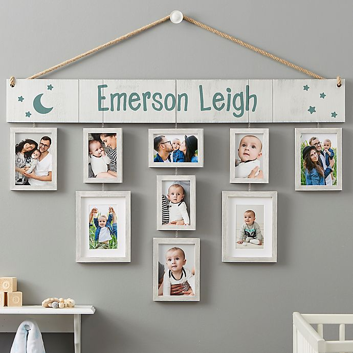 Alternate image 1 for Wallverbs™ Baby Love Personalized Hanging Picture Frame Set