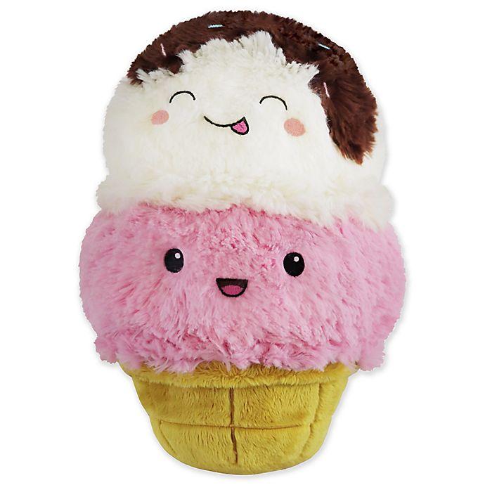 Alternate image 1 for Squishable Mini Ice Cream Cone Plush Toy in White/Pink