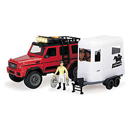 Playlife 18-Piece Horse Trailer Play Set