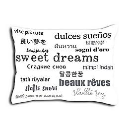 Alamode Home Sweet Dreamz Standard Pillow Sham in White