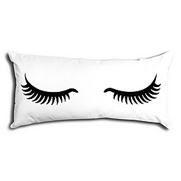 Alamode Home Sweet Dreamz Oblong Throw Pillow in White