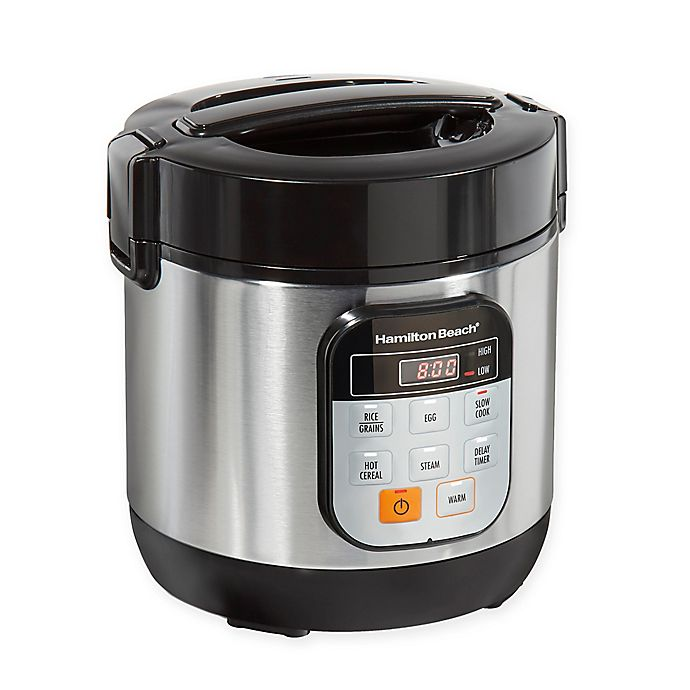 Alternate image 1 for Hamilton Beach 1.5 qt. Stainless Steel Compact Multi-Cooker
