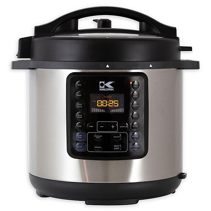Alternate image 1 for Kalorik® 10-in-1 Multi Use Pressure Cooker in Black/Stainless Steel