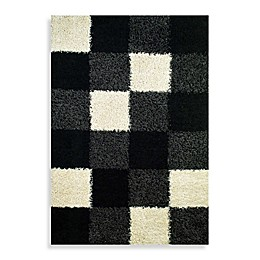 Concord Global Trading Blocks 3'3 x 4'7 Accent Rug in Black