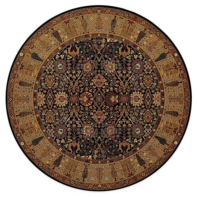Bed Bath And Beyond Area Rugs Roselawnlutheran Earth Tone: Couristan® Royal Kashimar Black Rug