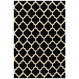 Dimensions Hook Rug in Black