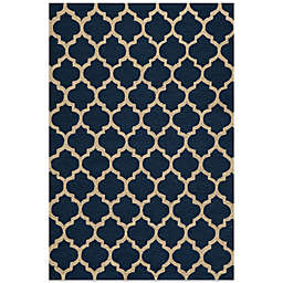 Dimensions Hook Rug in Navy