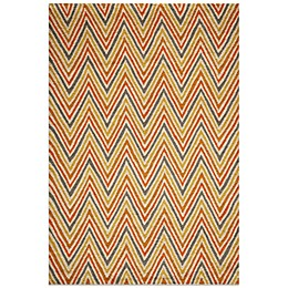 Momeni Dimensions Hook Rug in Orange