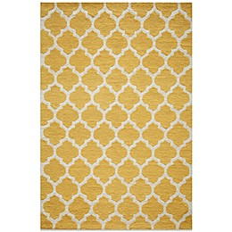 Dimensions Hook Rug in Yellow