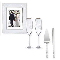 Lenox® Peony Picture Frame, Champagne Flute, and Cake Knife and Cake Server Collection