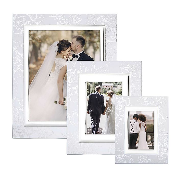 Lenox Peony Picture Frame In Silver Bed Bath Beyond
