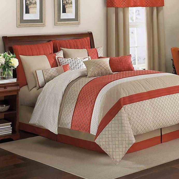 Royal Heritage Home® Pelham Comforter Set In Orange