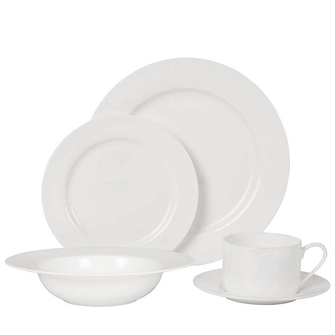 Alternate image 1 for Nevaeh White® by Fitz and Floyd® Rim Dinnerware Collection