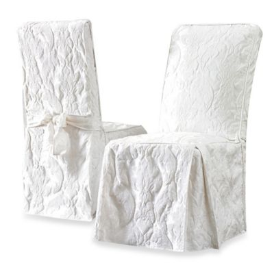 Sure Fit Duck Supreme Cotton Dining Room Chair Slipcover Bed Bath Beyond