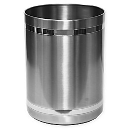 Wamsutta® Aiden Wastebasket in Brushed Metal