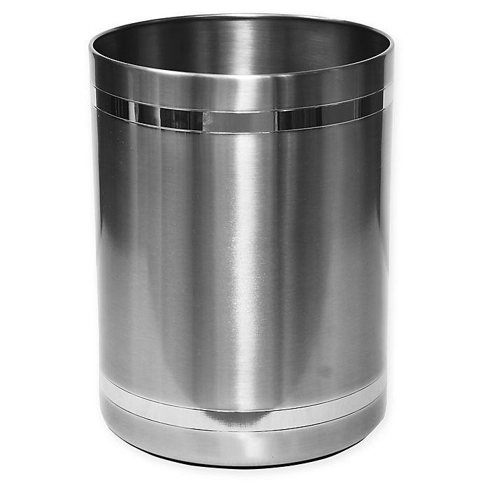 Alternate image 1 for Wamsutta® Aiden Wastebasket in Brushed Metal