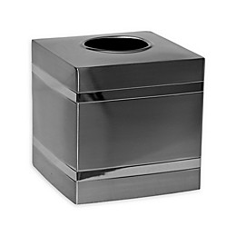 Wamsutta® Aiden Boutique Tissue Box Cover in Brushed Metal