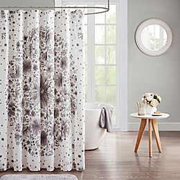 iDesign® Emma Shower Curtain in Grey