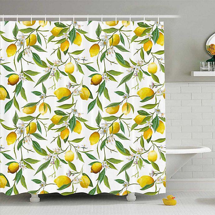 Alternate image 1 for Ambesonne Lemons Shower Curtain