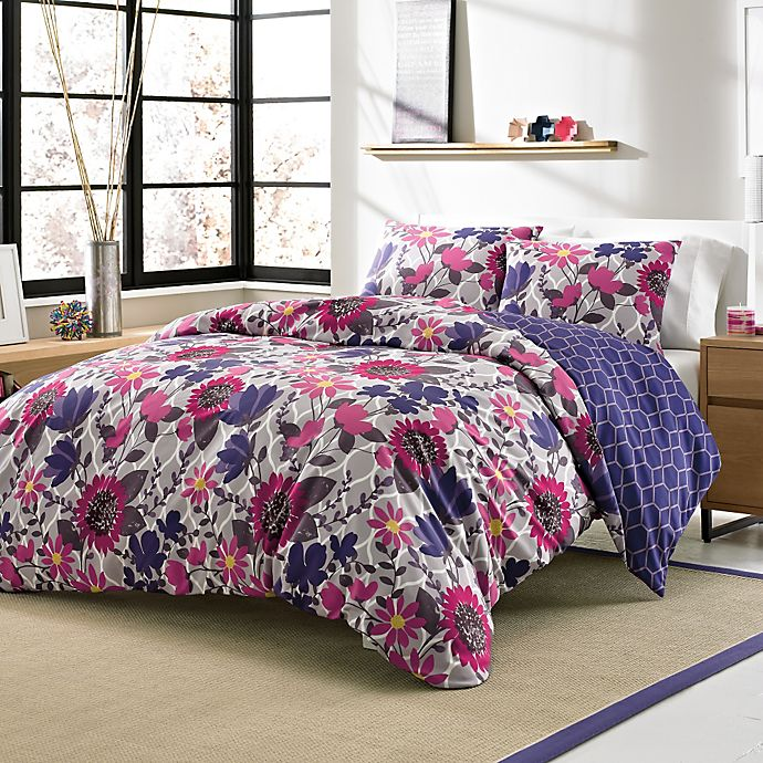 Zoey 3 Piece Twin Xl Reversible Duvet Cover Set Bed Bath