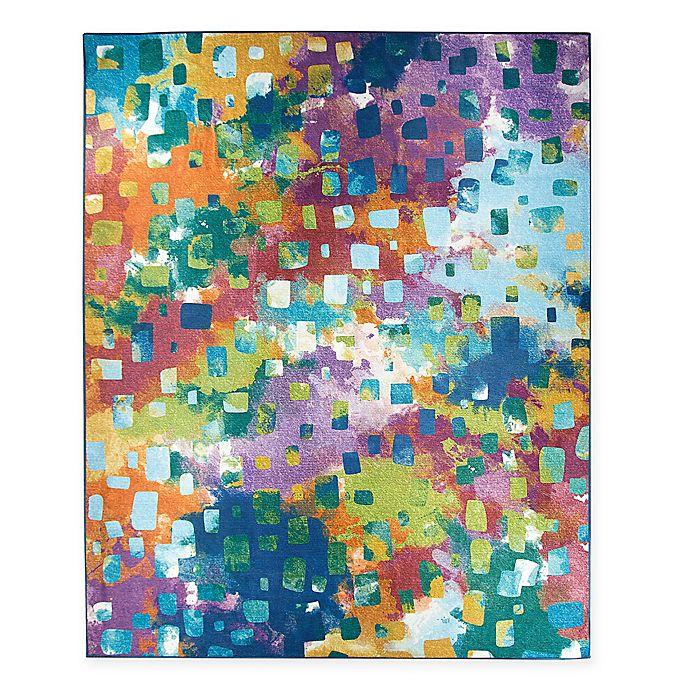 Ruggable 174 Watercolor Abstract Flat Weave Indoor Outdoor