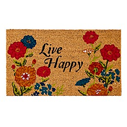 "Evergreen ""Live Happy"" Door Mat"
