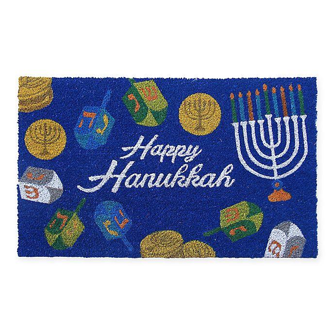 Alternate image 1 for Hannukah Coir Door Mat