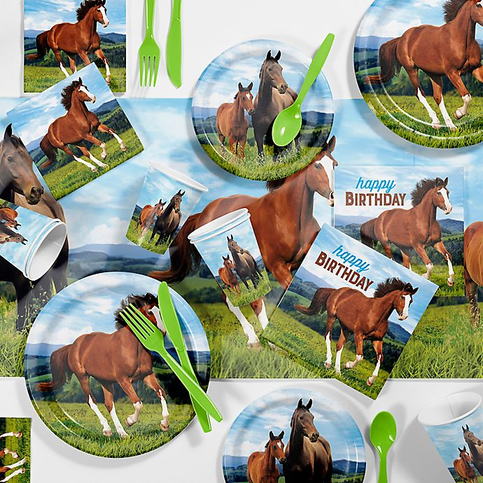 Creative Converting™ Wild Horses 81-Piece Birthday Party Supplies ...