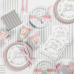 Creative Converting™ 81-Piece Country Floral Baby Shower Supplies Kit