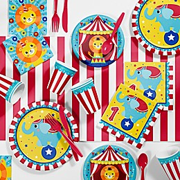 Creative Converting™ 81-Piece Circus Animal First Birthday Party Supplies Kit