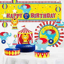 Creative Converting™ Circus Animals 8-Piece Birthday Decorations Kit