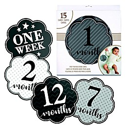 Lillian Rose™ Milestone Card Set in Grey