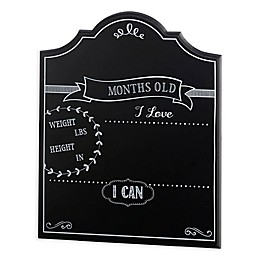 Lillian Rose™ Keepsakes Monthly Baby Chalkboard Sign in Black