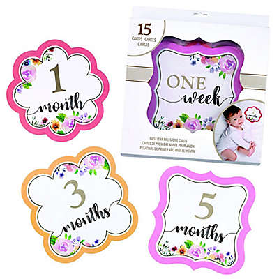 Lillian Rose™ Milestone Card Set in Pink