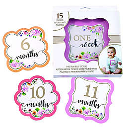 Lillian Rose™ Milestone Belly Stickers in Pink